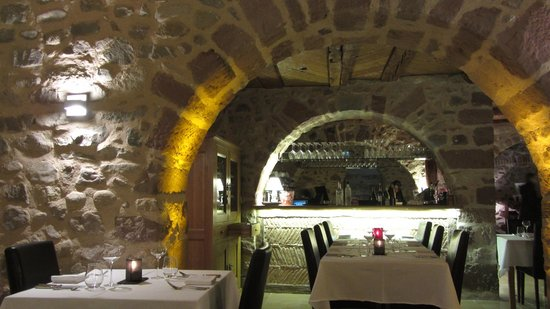 Hotel l'Abbaye d'Alspach: интерьер ресторана