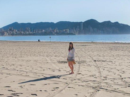 Poniente Beach, nice and quiet