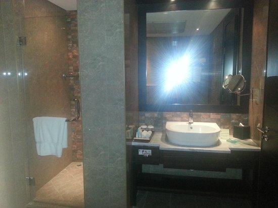 The K Hotel: Ducha y lavabo
