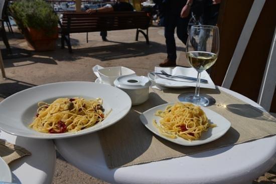 Osteria Del Porto: Spaghetti mit Dörrtomaten und Kapern aus Sizilien