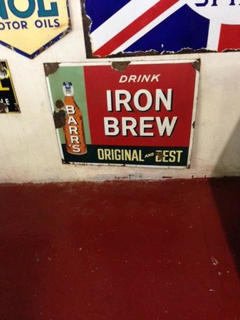Myreton Motor Museum: One of many traditional metal signs