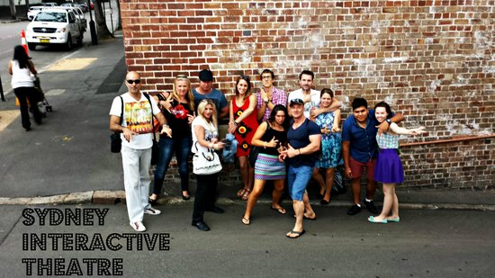 Sydney Interactive Theatre: A Mob posing of the Messengers !!!
