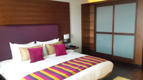 Radisson Blu Plaza Hotel Hyderabad Banjara Hills: The bed and cupboard