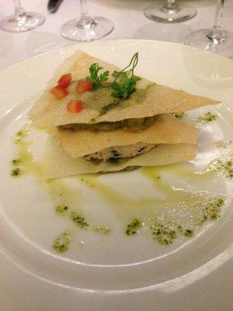 Vagenende Brasserie: Sfoglia di granchio e salsa di avocado