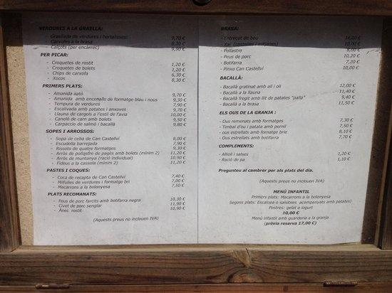 Restaurant Can Castellví : Mune març 2014