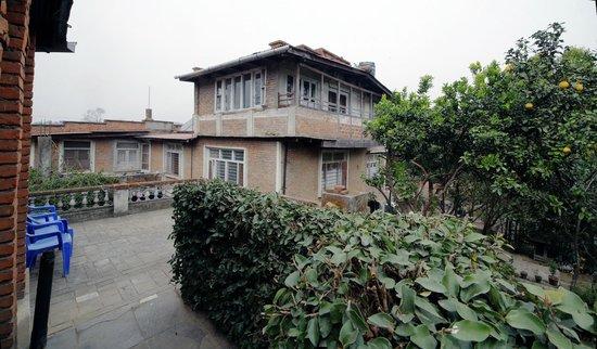 Krishna's House: Terasse