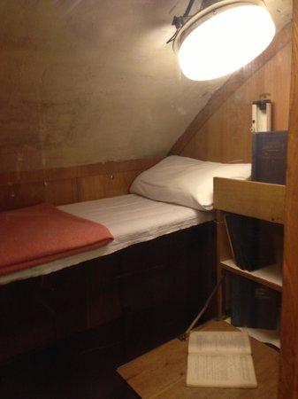 U-Bootmuseum U-434: Спальное место офицера