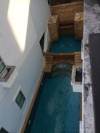The Royal Nakara: pool from dining area