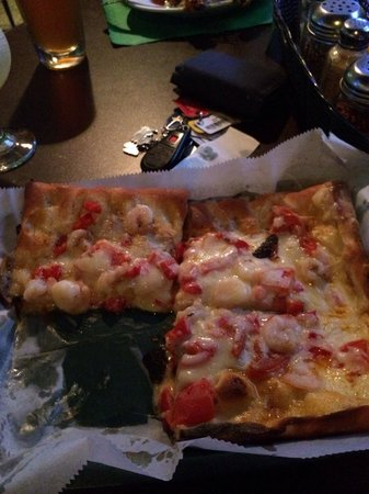 Ashley, PA: Super yummy shrimp pizza !! Loads of shrimp and seasoning and fresh dough !! Come get some !!