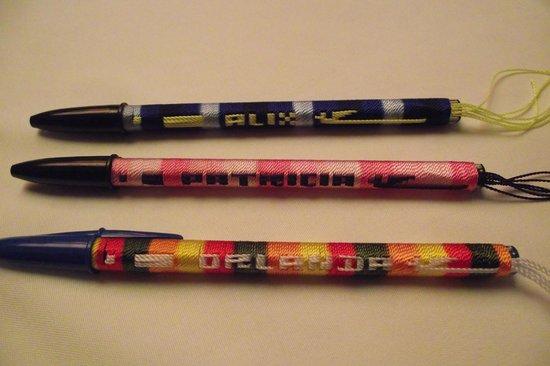 Lake Atitlan: Pens customized embroidered
