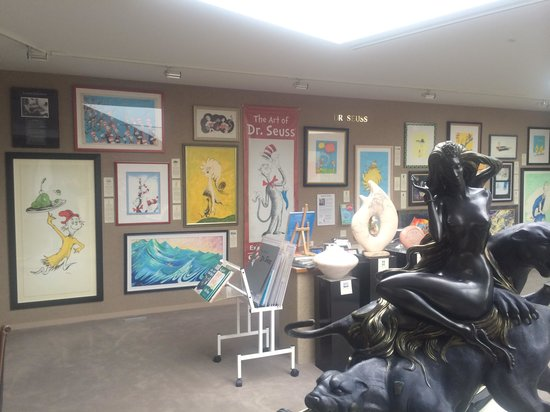 Saper Galleries and Custom Framing: The Dr. Seuss display enables you to own a piece of Seuss art!