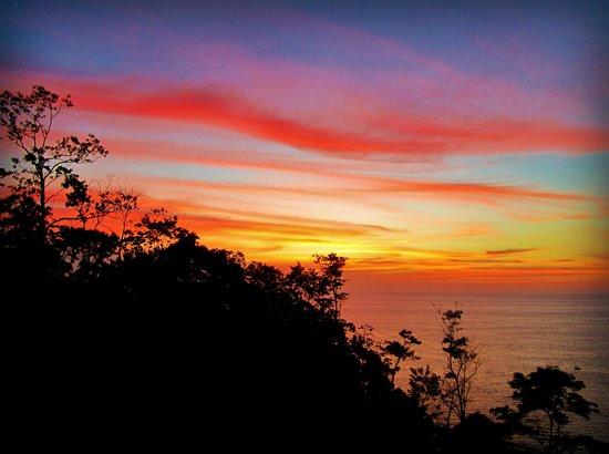 Casa Corcovado Jungle Lodge : another beautiful sunset