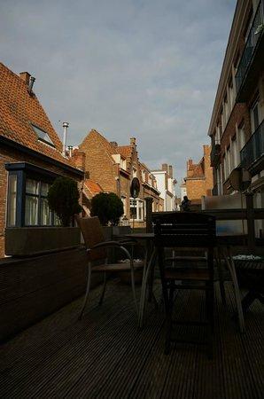 Hotel Salvators: La terrasse