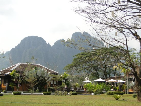 Villa Vang Vieng Riverside : la vue