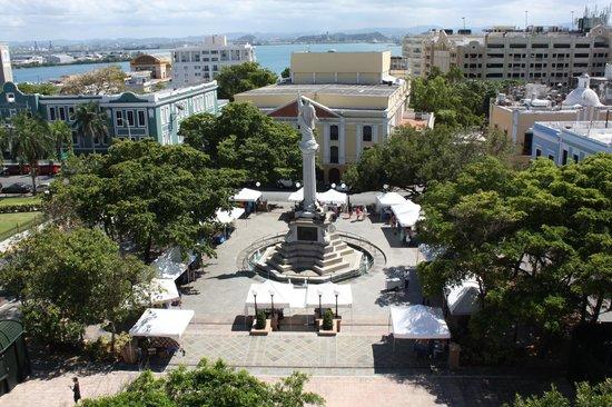 Posada San Francisco Old San Juan: View of Plaza Colon