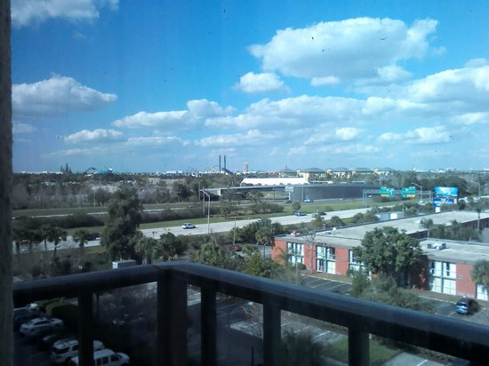 Rosen Inn: View from 731 looking over Interstate 4 at Universal studios