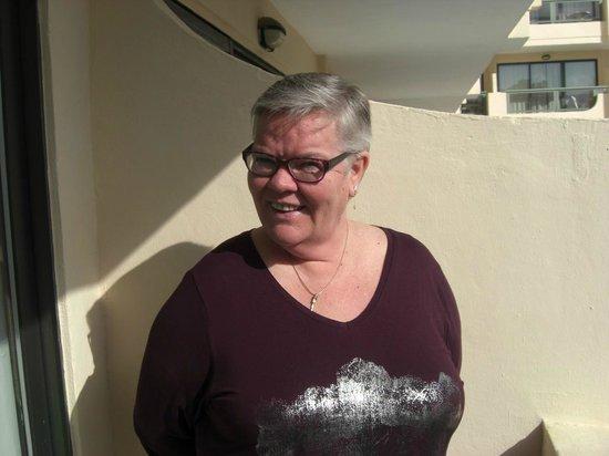 Innside Palma Bosque: på terassen