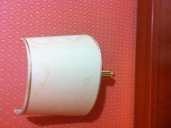 Virginia Hotel: Perfino le lampade hanno aloni di sporcizia