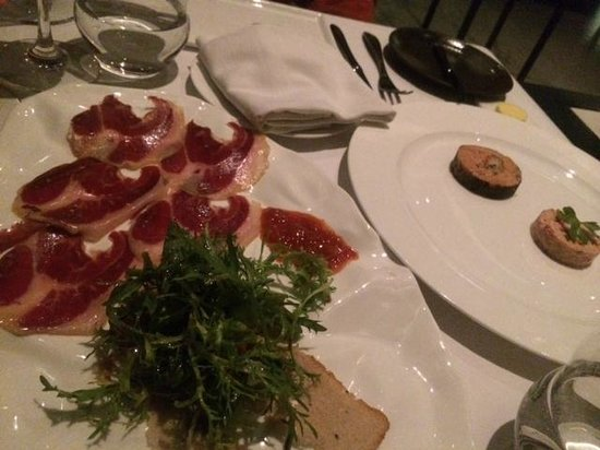 TRB Hutong : Jarmon Iberico and foie gras terrine with lobsters