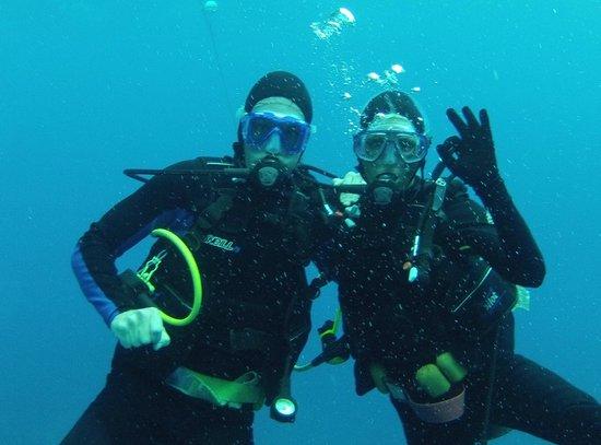 Club Med Turkoise, Turks & Caicos: Robert et Marie-Hélène...sous l'eau
