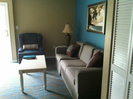 The Barefoot Suites: First floor living room