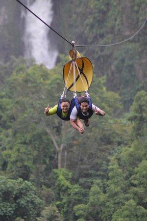 Ziplining in Lake Sebu