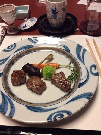 Kinosaki Onsen Nishimuraya Honkan: tajima beef