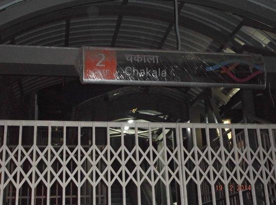 Hotel Kohinoor Continental: Chakala Station (less than 100 metres away)