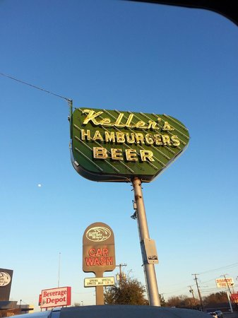 Keller's Drive-in: Look for the sign!
