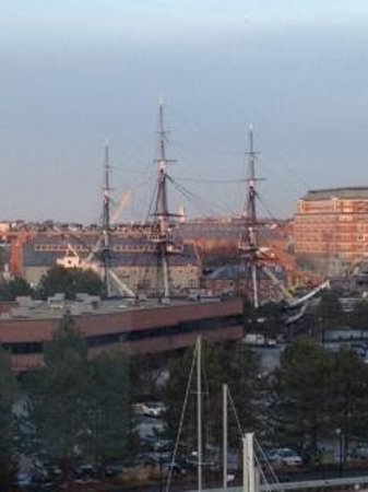 Residence Inn Boston Harbor on Tudor Wharf: View of USS Constitution from Hotel Rm