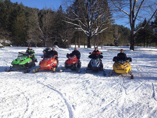Lake Morey Resort : snowmobiling