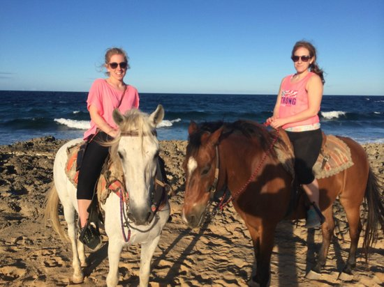El Paseo Ranch Aruba: Riding along the beach