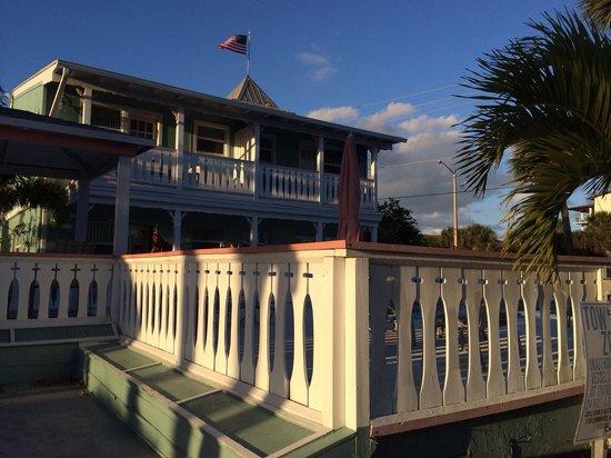 Walking past the islander inn, the pool