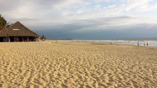 Hard Rock Hotel Vallarta: Facing one direction on beach