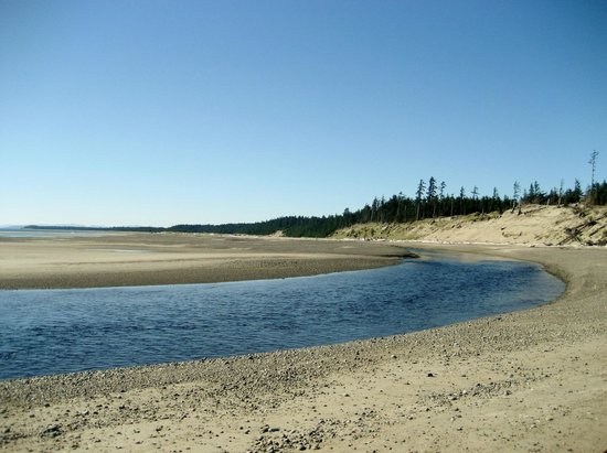 Haida House at Tllaal: Pesuta Hike - Tlaal River and Ocean meet.