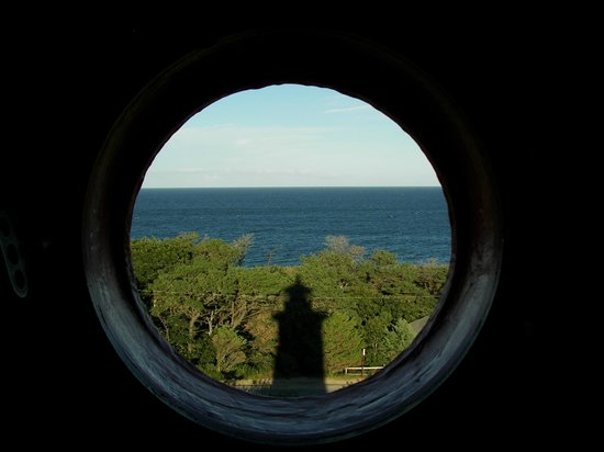 Nauset Light: interesting view toward ocean, with shadow