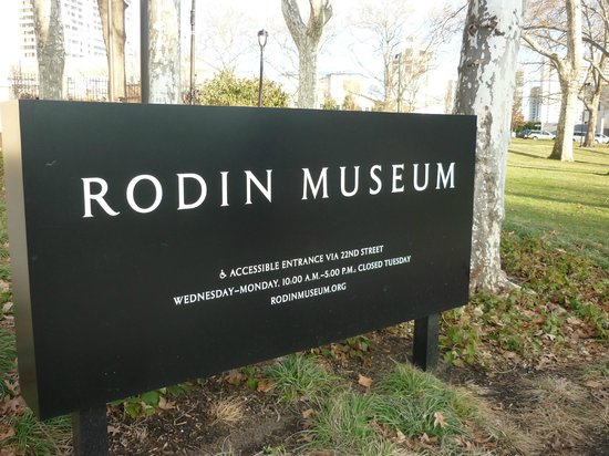 Rodin Museum Sign