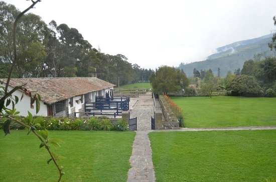 Hacienda Zuleta: View towards stables