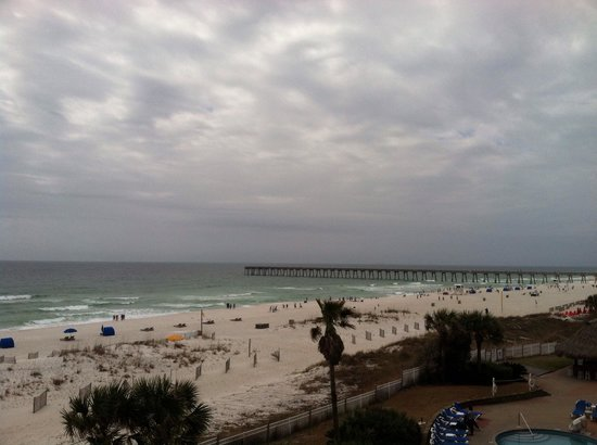 Gulf Breeze, Φλόριντα: View from balcony facing pier