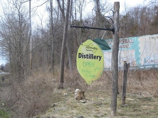 Bloomery Plantation Distillery: Bloomery Distillery Main Road Sign