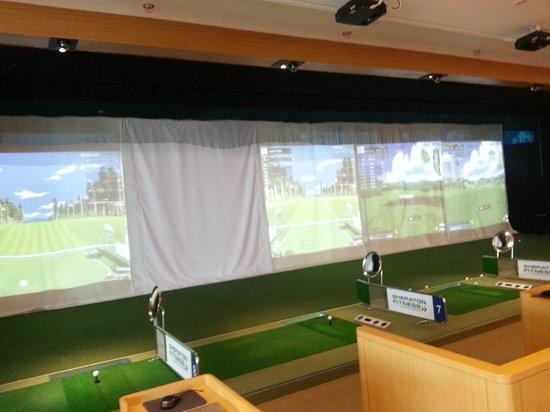 Sheraton Seoul D Cube City Hotel : golf simulator at gym