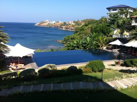 Club Punta Fuego: Breathtaking view of the beach and the infinity pool
