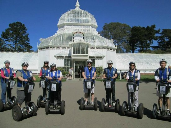 Electric Tour Company Segway Tours : The Conservatory of Flowers, one of several highlights we wheeled by and learned more about.