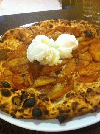 """Peccati di Gola: Pizza con mele e gelato!!! Fantastica!!!:)"""""""
