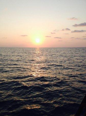 Chantara, Junk Boat: Sunset from Chantara