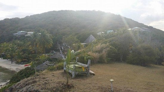 Frenchmans: Looking back on property from the lookout on eastern tip