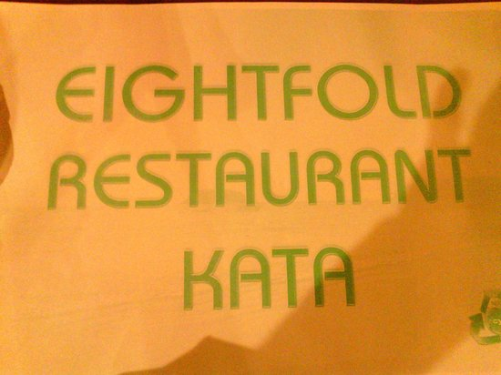 Eightfold Restaurant : place mats