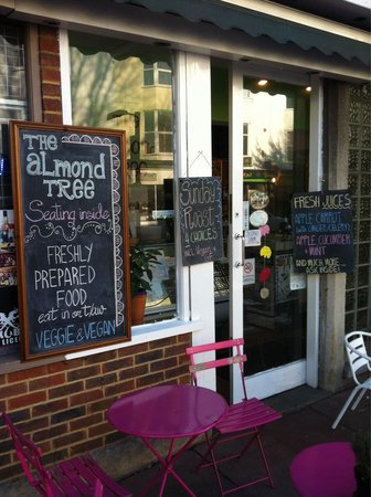 The Almond Tree: Shop entrance