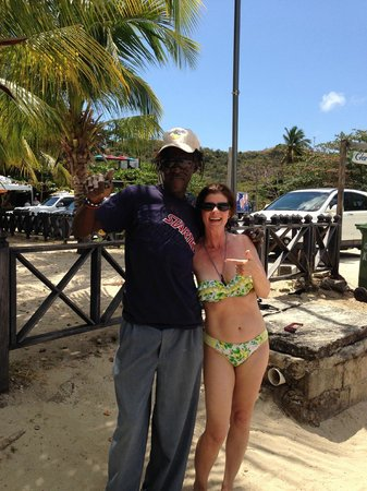 Coyaba Beach Resort: Alvin and me on Grand Anse beach