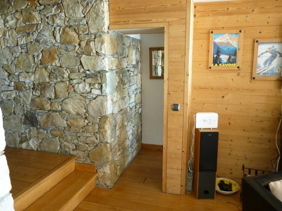 Chalet Cairn : Entrance to Room 6 (dining area to left, seating to right)